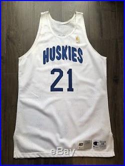 Toronto Raptors Huskies champion hwc game Jersey Issued Camby 50th Gold logo nba