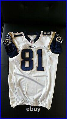 Torry Holt Los Angeles St. Louis Rams NFL Game Issued Jersey #81 Used