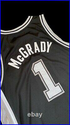 Tracy Mcgrady Rare spurs Nba Finals Game Issued Jersey Worn Retirement Raptors