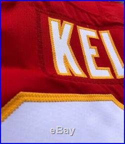 Travis Kelce Kansas City Chiefs Game Issued Super Bowl LIV Jersey