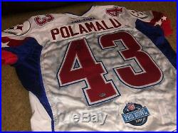Troy Polamalu Signed Autographed 2007 Pro Bowl Cut Game Issued Jersey-coa