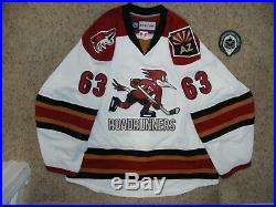 Tucson Roadrunners AHL #63 NNOB 17/18 White Game Issued Jersey withset tag & LOA