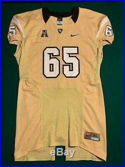 University of Central Florida UCF Knights GAME ISSUED /USED Gold Jersey #65 SzXL