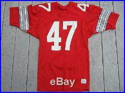 VINTAGE 1980's OHIO STATE BUCKEYES AUTHENTIC GAME ISSUED FOOTBALL JERSEY