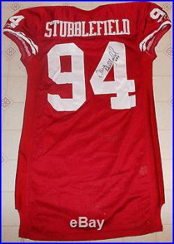 VINTAGE REEBOK 2002 SAN FRANCISCO 49ers GAME ISSUED JERSEY KANSAS