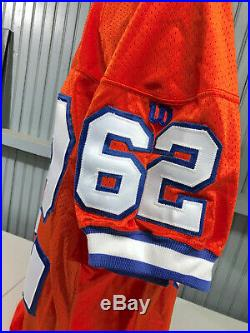VTG 1994 Denver Broncos Team Issue / Game Worn Wilson Size 50 NFL Jersey 75th