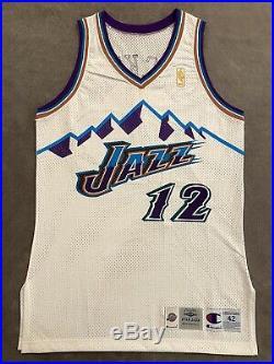 VTG Champion NBA Jersey Game Issued Worn Jersey Utah Jazz Jersey John Stockton