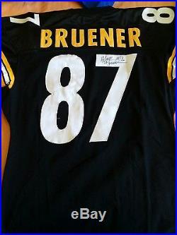 Vtg NFL Nike Game Issued Signed Pittsburgh Steelers Mark Bruener Jersey
