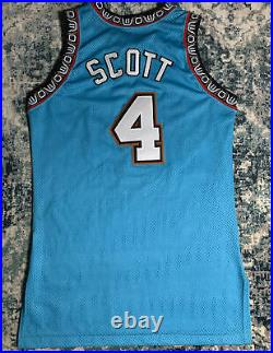 Vancouver Grizzlies Champion Byron Scott Game Issued/Worn Jersey 1995-1996