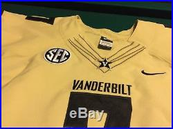 Vanderbilt Commodores Game Issued /Un Worn Football Jersey Nike #7 Size 2XL WEBB