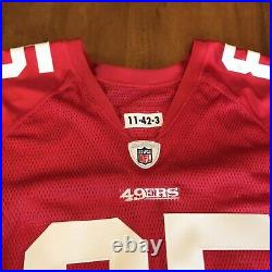 Vernon Davis Signed Autographed Game / Team Issued 49ers Jersey Reebok