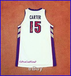 Vince Carter 2000-01 Toronto Raptors Game Issued ProCut Jersey Used Signed Worn