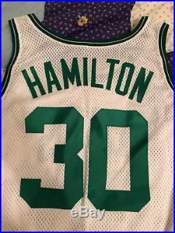 Vintage Boston Celtics Thomas Hamiton Game Worn Team Issued Jersey