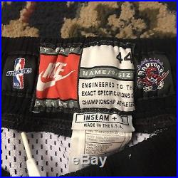 Vtg Nike Toronto Raptors Team Issued Pro Cut Game Shorts Size 44 L Large Nba Men