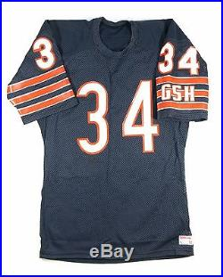 Walter Payton Signed Game Issued Chicago Bears Wilson Jersey Gem Mint Signature