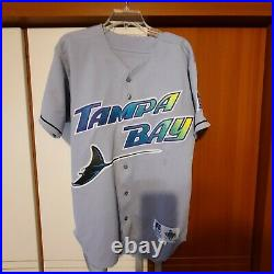 Wade Boggs 1998 Tampa Bay Devil Rays Authentic Team Issued Game Jersey Size 44