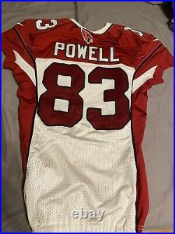 Walt Powell Arizona Cardinals game issued jersey