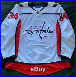 Washington Capitals Authentic Away Game Issued Adidas Jersey Sz 56 Siegenthaler