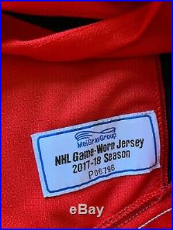 Washington Capitals Authentic Home Game Issued Adidas Jersey Sz 56 Siegenthaler