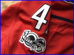 Washington Capitals Game Issued Hershey Bears Jersey Vanacek 58g Goalie Adidas