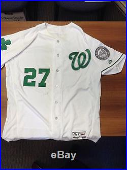Washington Nationals Shawn Kelley Game Used Worn Issued Jersey