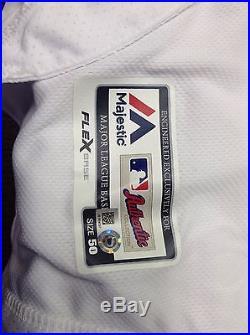 Washington Nationals Yusmerio Petit Game Used Worn Issued Jersey