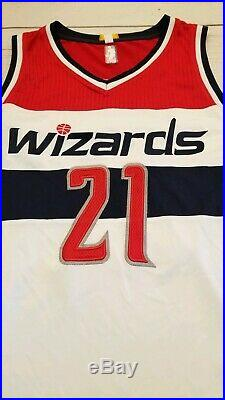Washington Wizards Game Worn Used Issued Adidas Rev30 Jersey XL Jaron Johnson 21