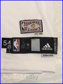 Washington Wizards Zephyrs Throwback Blank Game Jersey 2008-09 Team Issued NBA