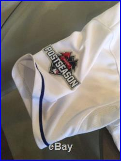 Yordano Ventura Kansas City Royals Game Worn Team Issued 2015 Postseason Jersey