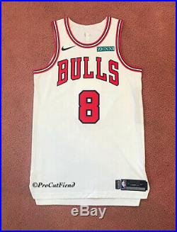 Zach LaVine 2019-20 Chicago Bulls Team Issued Game Jersey Nike 46+4 Pro Cut READ