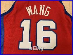 Zhizhi Wang NBA Game Issued/used Jersey Los Angeles Clippers Reebok